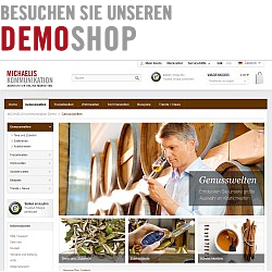 MICHAELIS Kommmunikation Demo Shop
